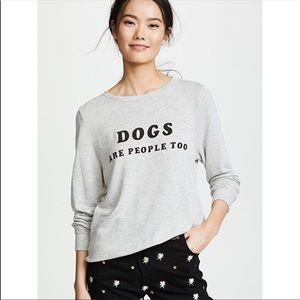 Wildfox dogs sweatshirt NWT size xs